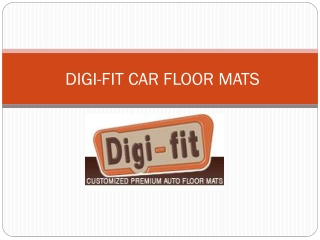 Digifit Car Mats