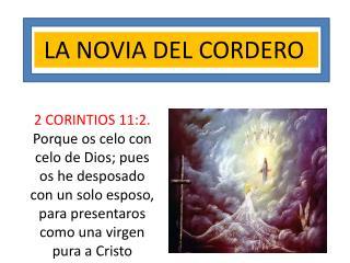 LA NOVIA DEL CORDERO