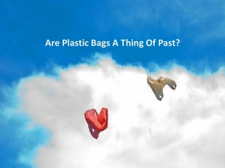 Are Plastic Bags A Thing Of Past?