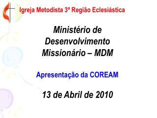 Igreja Metodista 3  Regi o Eclesi stica