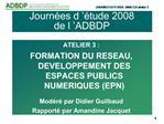 Journ es d   tude 2008 de l  ADBDP