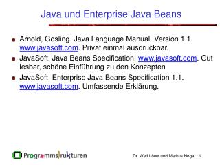 Java und Enterprise Java Beans