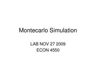 Montecarlo Simulation