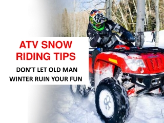 Snow Riding Tips – Make your Suzuki Motorcycles' Ride Smooth