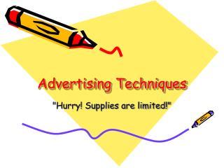 advertising techniques