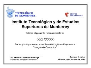 Instituto Tecnol gico y de Estudios Superiores de Monterrey