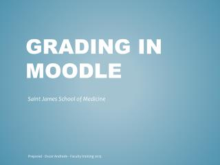 Grading in moodle
