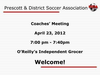 Prescott  District Soccer Association