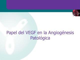 Papel del VEGF en la Angiog nesis Patol gica