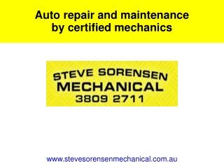 Auto repair and maintenance by certified mechanics