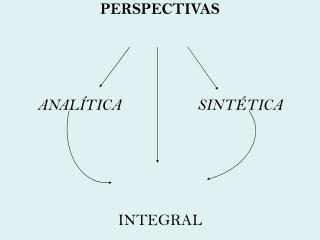 PERSPECTIVAS     ANAL TICA   SINT TICA       INTEGRAL