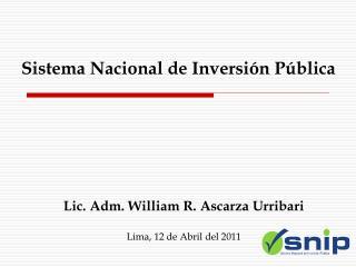 Sistema Nacional de Inversi n P blica