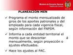 PLANEACI N MEN