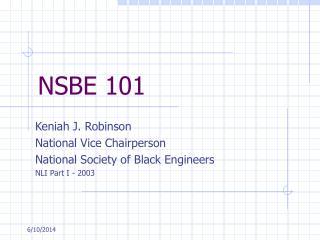 NSBE 101
