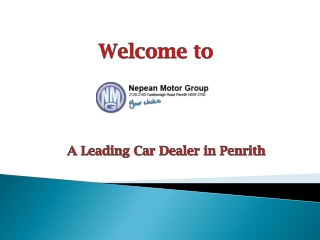 Nepean Motor Group - A Leading Car Dealer in Penrith