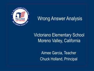 Victoriano Elementary School Moreno Valley, California