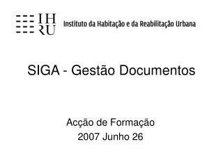SIGA - Gest o Documentos