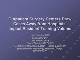 Outpatient Surgery Centers Draw Cases Away from Hospitals, Impact Resident Training Volume