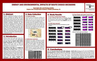 ENERGY AND ENVIRONMENTAL IMPACTS OF ROUTE CHOICE DECISIONS   Kyoungho Ahn and Hesham Rakha Virginia Tech Transportation