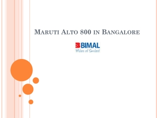 Maruti Alto 800 Price in Bangalore