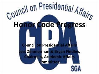 Honor Code Progress