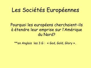 Les Soci t s Europ ennes