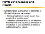 PSYC 2618 Gender and Health