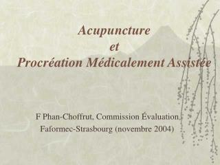 acupuncture et procr