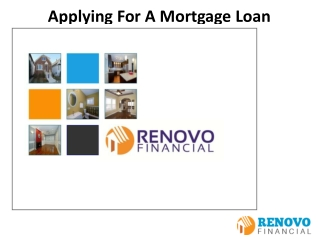 Applying For A Mortgage Loan