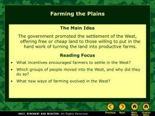 Farming the Plains