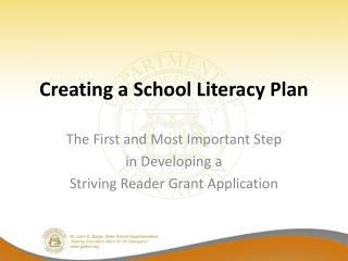 Creating a School Literacy Plan