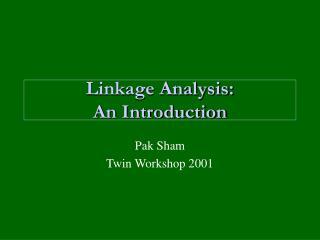 Linkage Analysis: An Introduction