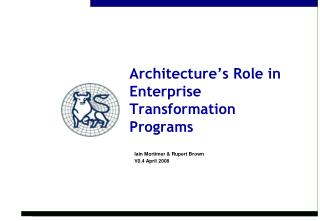 Architecture s Role in Enterprise Transformation Programs