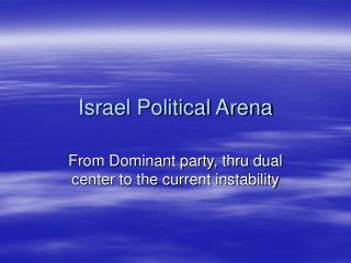 Israel Political Arena