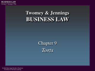 Twomey  Jennings BUSINESS LAW