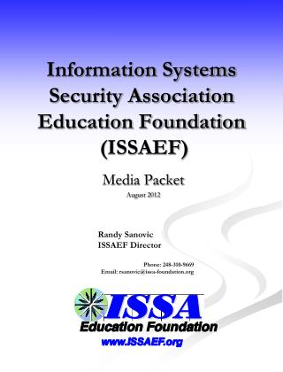 Information Systems Security Association Education Foundation  ISSAEF