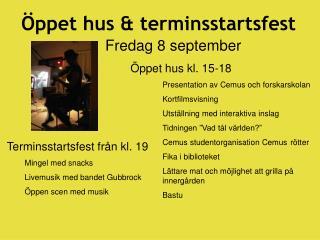 ppet hus  terminsstartsfest