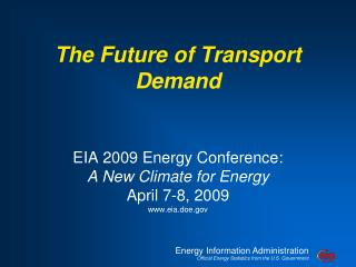 The Future of Transport Demand