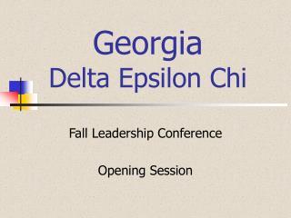 Georgia  Delta Epsilon Chi