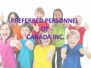 Preferred Nannies provide best Edmonton Nannies services