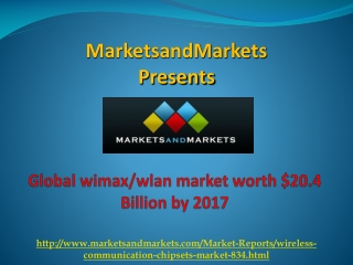 Global Wimax Market worth $20.4 Billion by 2017