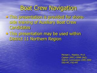 boat crew navigation