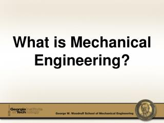 What is Mechanical Engineering