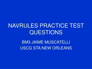 navrules practice test questions