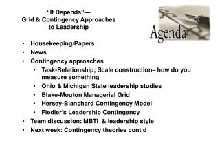It Depends   Grid  Contingency Approaches to Leadership