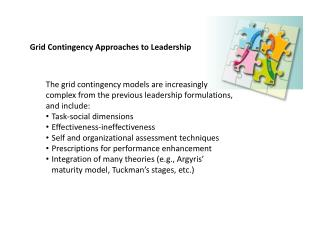 Grid Contingency Approaches to Leadership