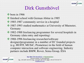 Dirk Gunsth vel