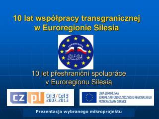 10 lat wsp lpracy transgranicznej w Euroregionie Silesia