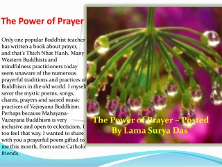 The Power of Prayer - Lama Surya Das
