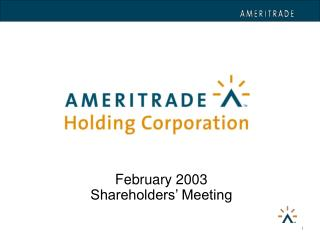 February 2003 Shareholders  Meeting